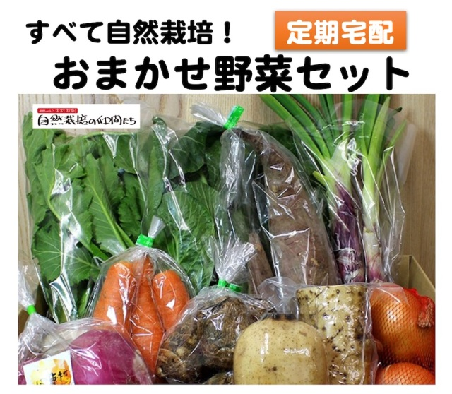 定期宅配の自然栽培の野菜セット