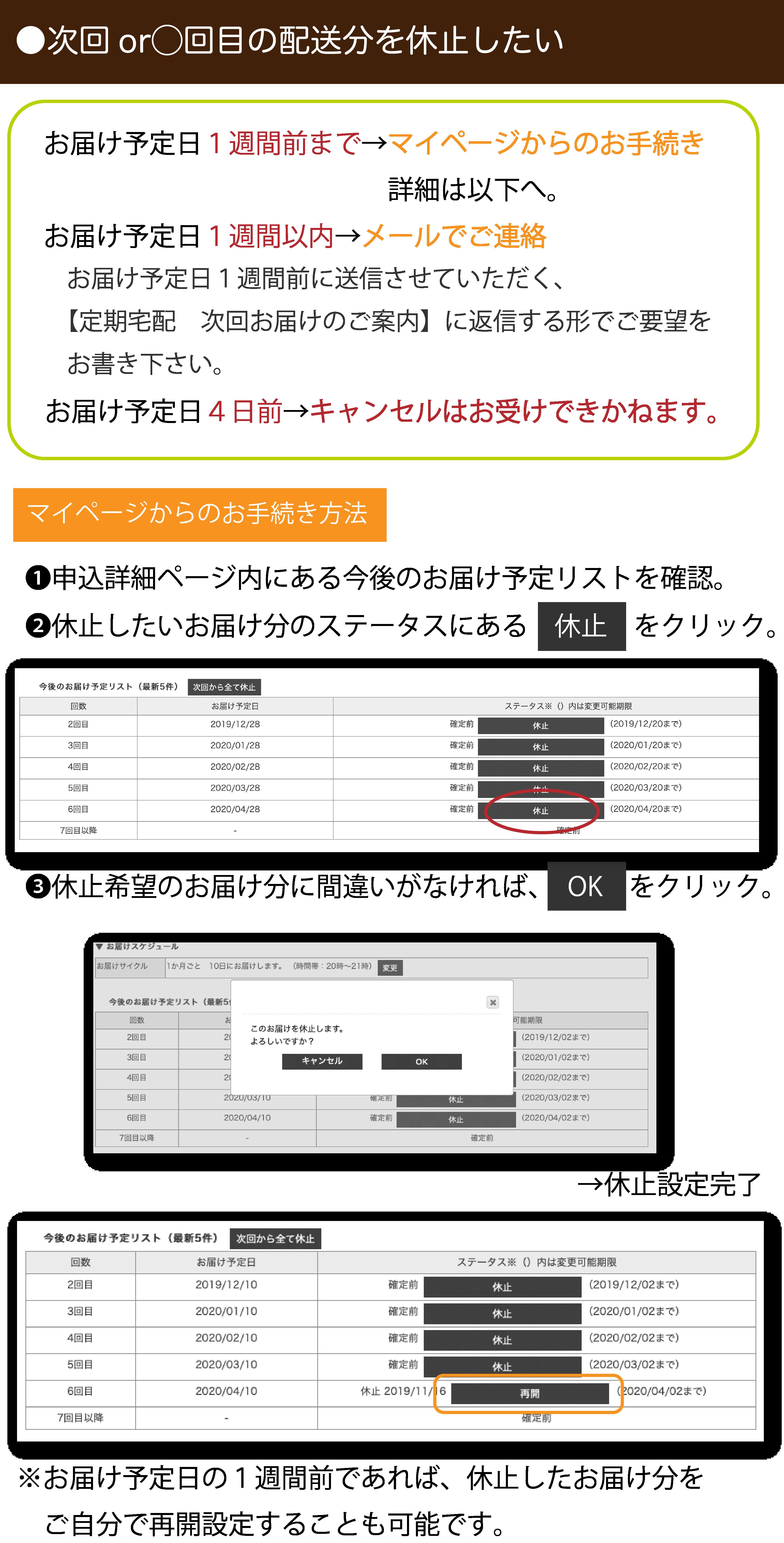 マイページ操作方法3